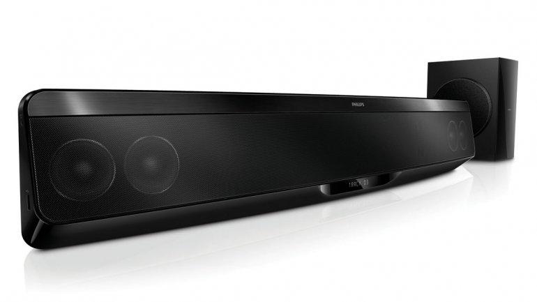 Barra de sonido con wifi para control remoto y streaming de philips