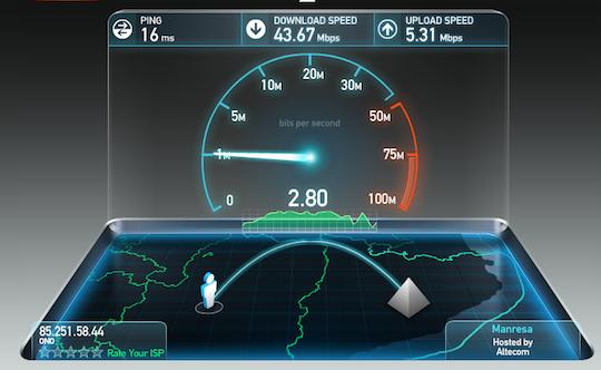 El mejor test de velocidad adsl, fibra y wifi para Movistar, vodafone, jazztel, orange en 2017