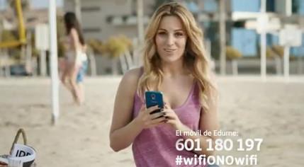 OnoWifi, Ono te trae wifi gratis en la calle, con Edurne y Bustamante