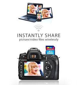 Tarjeta de memoria flash SD con wifi para compartir las fotos de tu cámara inalámbricamente