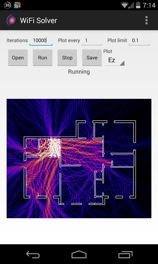 Mira como se propaga la red wifi por tu casa con la app WiFi Solver FDTD para Android