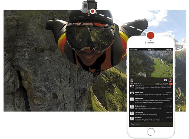 Emite en directo por Internet tus hazañas con la GoPro desde el iPhone con la app de Livestream