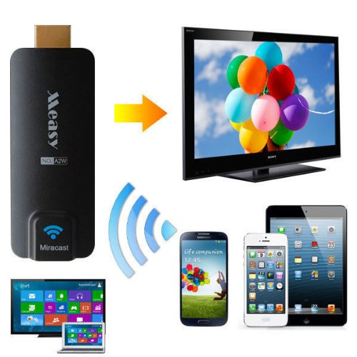 Measy, compatible con Chromecast, Miracast, DLNA y Airplay. Por 20 €. Clic en foto