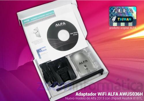 AWUS036H v5 Alfa Network. Clic en foto