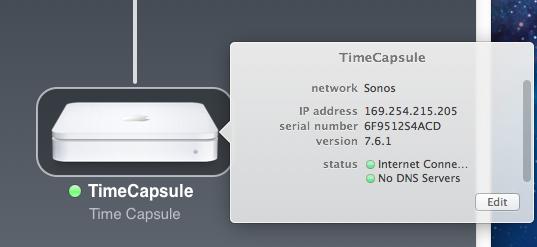 Configuración de Time Capsule de Apple con Sonos