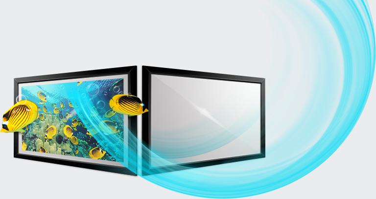 Un espejo de lujo con wifi que se convierte en televisor smart tv