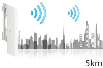 Repetidor wifi de gran potencia, especial para exteriores, jardines, terrazas, campos o patios, TP-Link CPE 210