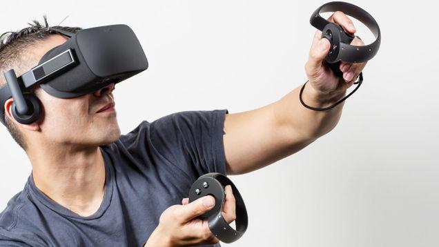 Gafas de realidad virtual Oculus Rift con controladores Oculus Touch