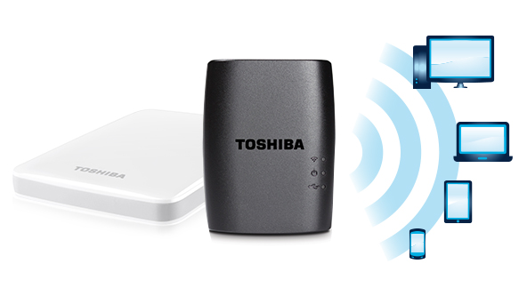 Como poner wifi a un disco duro externo y convertirlo en inalámbrico con el adaptador STOR.E Wireless de Toshiba