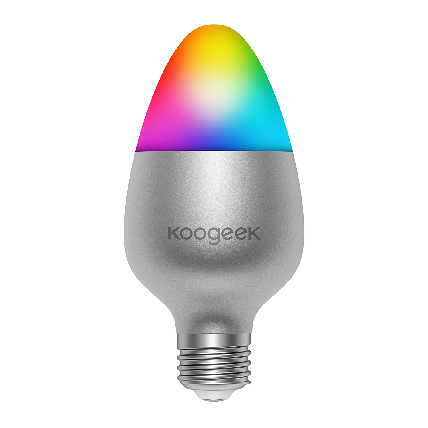 Bombilla led wifi inteligente Koogeek de colores para iPhone, iPad, Apple TV con Home Kit