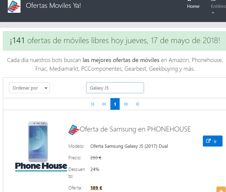 3a1a71039d6 Esta web online permite comparar móviles de la mayoría de tiendas en  España, tiene integrados a Amazon, El Corte Inglés, Carrefour, Phonehouse,  Fnac, ...