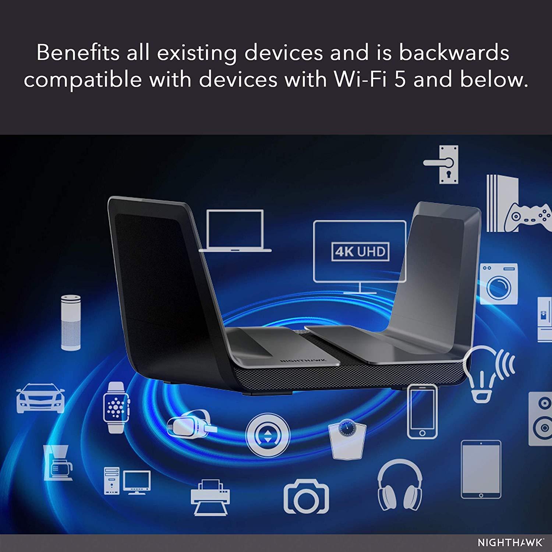 Router wifi 6 más potente, Netgear Nighthawk RAX80-100EUS, análisis, opiniones, potencia, cobertura, precios