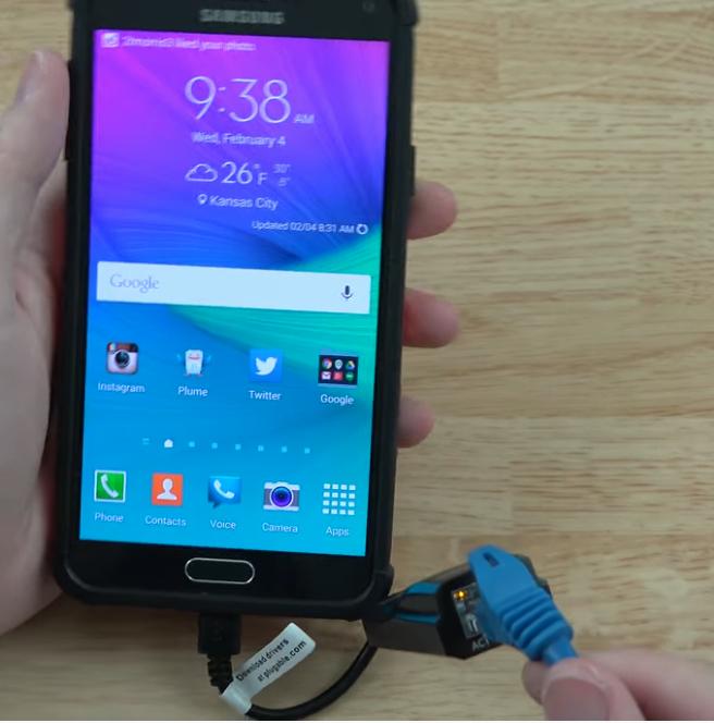 Como conectar el móvil Android a una red ethernet por cable, para tener una conexión rápida y estable