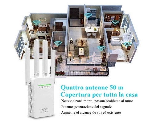 NFSK Amplificador Señal WiFi 3