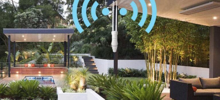 Instalar y configurar un repetidor wifi para exterior, sin cables, ampliando la señal wifi del router, ideal jardín, terraza, piscina y espacios abiertos